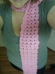 simple chiq shell stitch scarf Simple Chiq Shell Stitch Scarf: National Craft Month Project & Giveaway