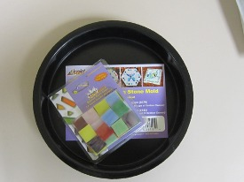 Jennifers Mosaics Reuseable Stepping Stone Mold and Stained Glass Chips
