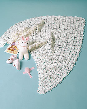 Crochet Shawl for Baby FaveCrafts.com