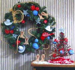 Country-Themed Wreath and Ornaments