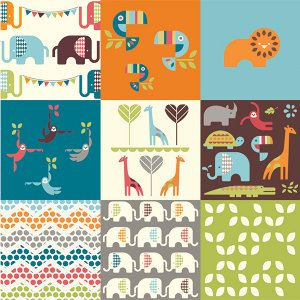 Safari Soiree Fabric Collection FaveQuilts Giveaway: Safari Soiree Fat Quarter Bundle