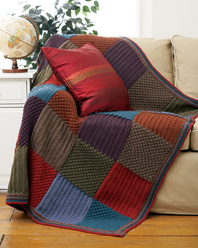 Checkered%2520knit%2520blanket Knitting Afghans