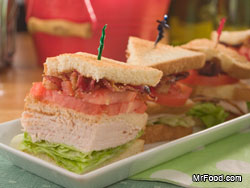 Piled High Club Sandwiches