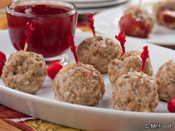 Turkey Stuffing Meatballs