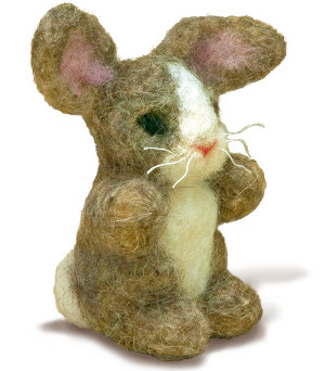 Needle Felting Easter Bunny Kit