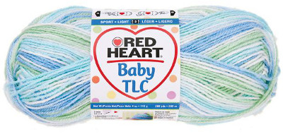 Red Heart Baby TLC Yarn Skein and Plush Baby Yarn Skein