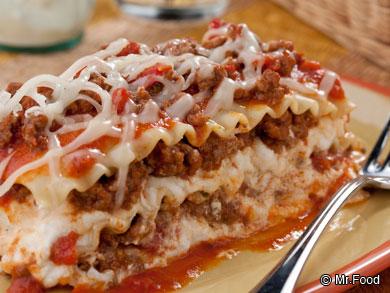 Hearty Meat Lasagna Recipes | MrFood.com
